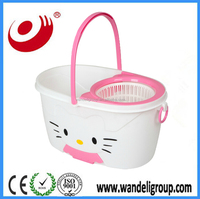 2015 newest design hello kitty 360-degree rotate easy mop amazing mop