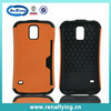 China wholesale TPU+PC bulk hybrid mobile phone case with card hole for Samsung S5