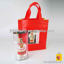 recycle promotional leather wine bag carrier/ carrier bottle gift bags