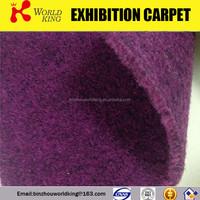 Colourful used velour exhibition carpet