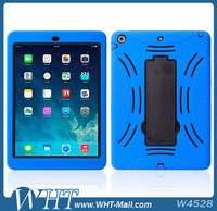 Powerful 3 in 1 Detachable Silicone+ PC Hybrid Stand Robot Case for iPad Air