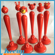 Promo Gifts Give-aways Lovely Animals Head Counter Ballpoint Pencil Pen Wholesale with Logo Adhesive Disc