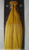 wholesale yellow color 0.5g i tip pre-bonded hair extension Indian remy hair extension 100% human hair