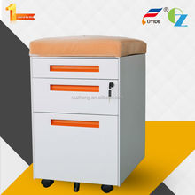 Economical customized metal mobile ironing board storage cabinet with cushion