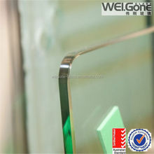brown color frameless glass fence with Australia standard