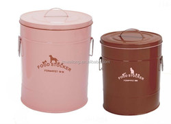 Eco-friendly OEM Metal Storage Box/LFGB FDA Certified Metal Pet Food Container_Top China Supplier