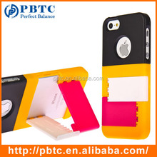 Set Screen Protector And Case For Iphone 5 , Hard Plastic Wholesale Mobile Phone Case