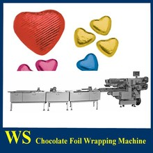 Auto Chocolate Foil Wrapping Line with chocolate bar line
