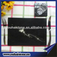 Hot selling resist compression square black slate plate for cheese