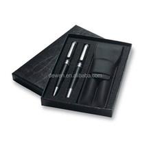 2015 HOT PEN---Classic gift pen set,black pen ,white pen with leather pouch