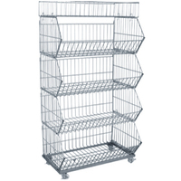 """Hot sale rolling container,roll cart trolley,light duty folding wire mesh rolling cage container with 2"""" PVC casters"""