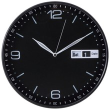 12 inch plastic date and day wall clock hands aluminium/ relogio de parede calendario