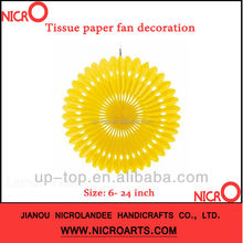 ***Party Trends***Hanging paper tissue fan