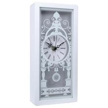 Antique design square wooden desk clock