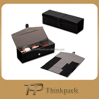 High Quality Black Folding Leather Wine Box