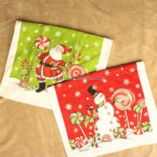 100% Cotton Printed Promotional Souvenir Holiday Christmas Xmas Tea Towel Dish Towel
