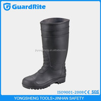 GuardRite Brand Men Clear PVC Rain Boots With Steel Toe Cap And Steel Midsole