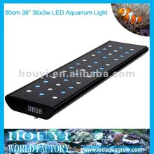 2012 super power intelligent and remote control 17000k led aquarium light gradual changing with timer for coral sps reef