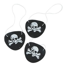 Felt Pirate Eye Patches for Party Toy Favors in Black