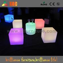 lighting cube/led light cube/plastic cube coffee table