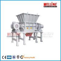 waste plastic chipper double shaft shredder machine price
