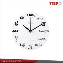 Manufacturer New Design Household Decorative Round White Acrylic Clock, Acrylic Wall Clock