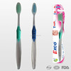 Personalized transparent anti slip handle adult toothbrush, toothbrush