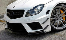 Black Series Carbon Front Bumper Canard for Mercedes BenZ W204 AMG C63