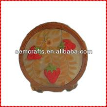 High quality resin strawberry handmade cheap napkin holders