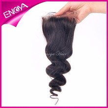 New Product 2015 Peruvian Virgin Hair Loose Wave Free Parting Lace Closure Factory Price