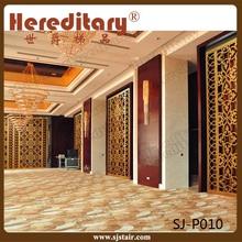 Indoor golden aluminum alloy decorative room divider screens for hotel