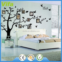 Large Photo Picture Frame Family Tree Removable Wall Sticker Decor Decal Black