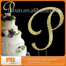 Rhinestone Cake Topper Letter A B C D E F G H I J K L M N O P R For Wedding Cake Stand tent and party supply