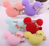 Bow Mouse Promotional barrettes Children kids Boutique wholesale baby girls hair accessories clip hairpins