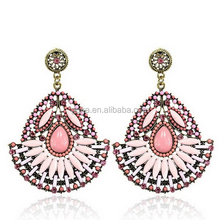 The fashion trends large resin dangle earrings