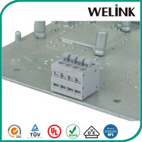 3.5mm top cable entry wave soldering terminal block, screwless terminal block, terminal block