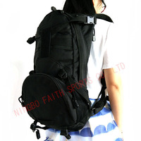 high quality black 600D polyester hunting shouders bag military backpack
