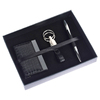 leather corporate gift set of card holder keychain and pen