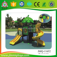 Discount outdoor children plastic playground slides paradise, outdoor equipment for kindergarten backyard play set for kids