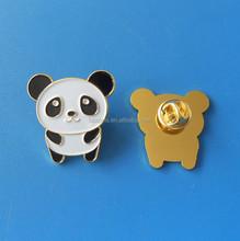 cute panda animal lapel pins, china souvneir gifts panda badges
