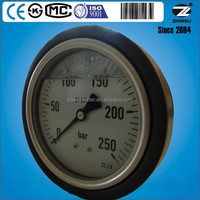 100mm axial mounting liquid filling pressure gauge with smart cover