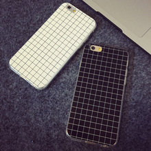 Simple Silicon Soft TPU Cover Cases For Apple iPhone 6 Plus 5.5Inch Lattice Protective Housing For 5s