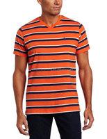 China Supplier Men's Design OEM v shape t shirt