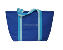 new product blue style handbag women custom clear tote bag