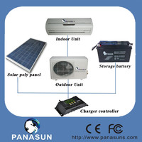 9000 BTU/0.75ton Portable Air Conditioning with solar panel /contrler /battery