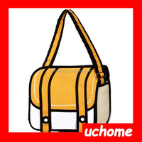 UCHOME Funny CUTE HOT 2D 3D Camera handbag shoulder bag drawing from cartoon paper bag