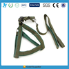 army green soft pet harness with plastic buckle and pet leash