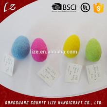 2015 ventas calientes del nuevo producto China artesanías casa decoraciones navideñas hechos a mano huevo de pascua guirnalda