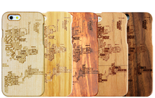 Newest Product Wood Case For Iphone 6 With Country Names Of Worldwide