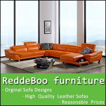 Muebles naranja salón con forma de L para el importador 2293#